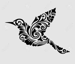 nice clean and smooth vector flying bird with floral ornament