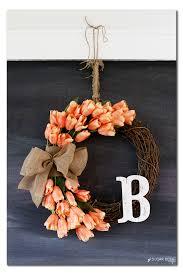 Tulip Wreath Spring Tulip Wreath Sugar Bee Crafts