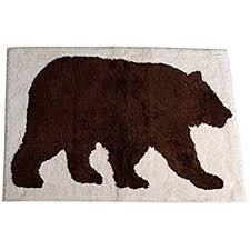amazon com bear bath rug home u0026 kitchen