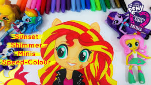 mlp equestria girls minis sunset shimmer doll speed color draw