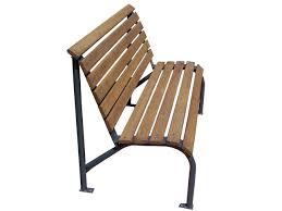 white oak commercial park bench