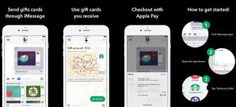 mobile gift cards starbucks for iphone adds imessage app for sending gift cards with