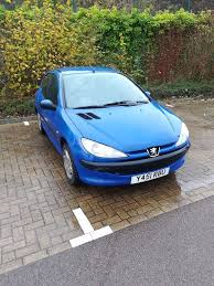 blue peugeot for sale blue peugeot 206 good and reliable small car for sale in newport