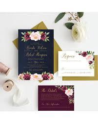 wedding invitations burgundy sale burgundy and navy wedding invitations marsala