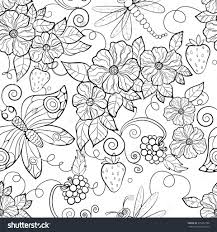 coloring pages butterfly pattern flowers coloring pages for