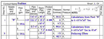 pipe friction loss table hydraulic calculation tutorial 2