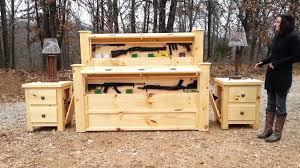Rustic Furniture Bedroom Sets - rustic furniture hidden gun cabinet maxresdefault high capacity