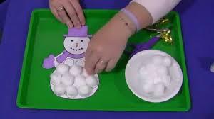 cotton ball snowman youtube