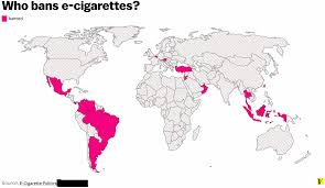 Map Of Countries Why The Us Hasn U0027t Banned Vaping U2014 And A Map Of Countries That Have