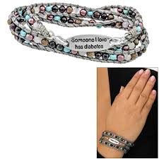 beaded wrap bracelet images Wakami someone i love has diabetes beaded wrap bracelet the gif