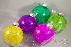 sparkly ornaments with ink britta swiderski creative