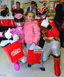 the power rangers deliver thanksgiving gifts to help bronx photos
