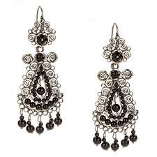 filigree earrings sterling silver frida kahlo filigree earrings with onyx jj caprices