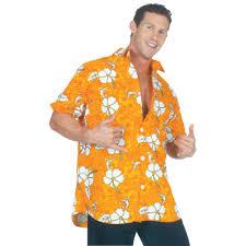 Halloween Shirt Costumes Orange Hawaiian Shirt Halloween Costume Walmart Com