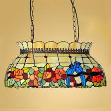 country style pendant lights 22 inch wide country style tiffany poll table island pendant light