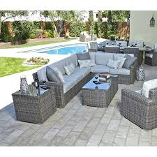 round outdoor sofa bed piece patio sectional set furniture curved