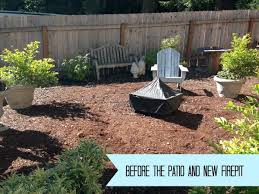 Diy Fire Pit Patio by Easy Diy Firepit Progress On The Fall Backyard Makeover Project