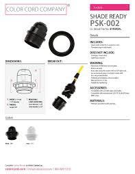 sockets u0026 cord grips color cord company