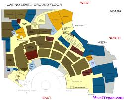 Las Vegas Hotel Strip Map by Aria Hotel The Complete Guide Casino U0026 Promenade Maps