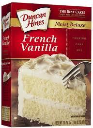 amazon com duncan hines signature french vanilla cake mix 16 5