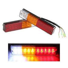 led trailer tail lights new pair 12v atv truck 20 led trailer rear tail light light l in