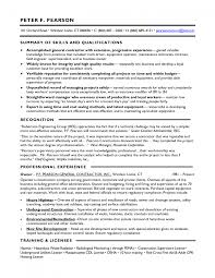 Examples Of Federal Government Resumes by Pleasurable Contractor Resume 1 Best General Contractor Resume