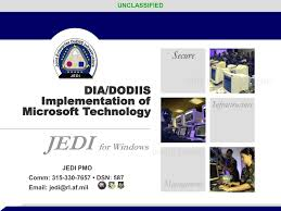 dia dodiis implementation of microsoft technology