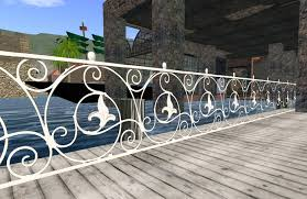 Decorative Wrought Iron Railings Second Life Marketplace Ornamental White Wrought Iron Fence