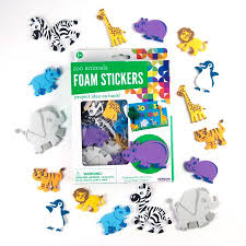 zoo animal foam stickers by horizon usa walmart