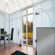 Linen Vertical Blinds To Measure Blackout Pvc Vertical Blinds In Linen With Heat