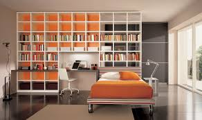 modern cheerful design of the interior library design that has an