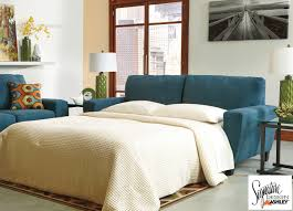 sagen teal queen sleeper sofa