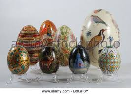 painted eggshells real painted easter eggs republic prague market stock