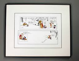 How To Frame A Print Comic Art Calvin And Hobbes