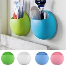 Suction Cup Bathroom Shelf Best Quality Toothbrush Holder Bathroom Kitchen Family Toothbrush
