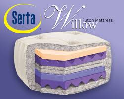 serta willow premium memory foam futon mattress