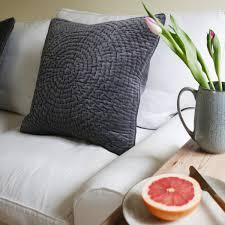Cushions Velvet Shark Grey Velvet Cushion Broste Copenhagen Feather U0026 Marble