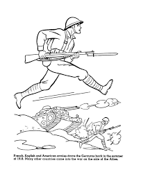 usa printables the allies enter wwi coloring sheet american