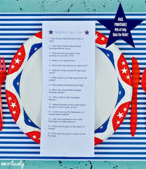 How Many Stars In The Us Flag Free Printable Fourth Of July Quiz For Kids Make Life Lovely