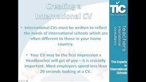 How To Write A Teaching Resume Creating An International Teaching Cv Youtube