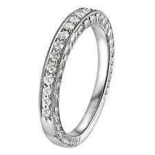sk wedding band vintage collection engraved diamond engagement