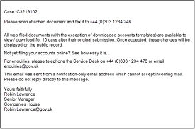 Announcement Of Company Name Change Letter Template Reporting Fraud To Companies House Gov Uk