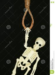 skeleton halloween background bankrupt concept noose with hangman u0027s knot hanging in front