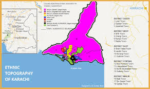 map of karachi 1348459912441 ethnic map of karachi alternative