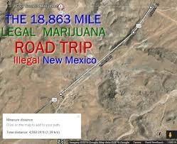 Map Your Road Trip The 18 863 Mile All Legal Marijuana Road Trip