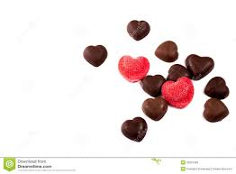 chocolate for s day chocolate hearts on white background s day stock image
