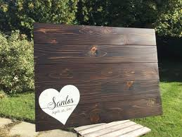 large wedding guest book large wedding guest book alternative handmade rustic wood