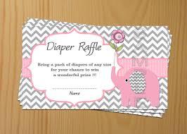 raffle ticket printing paper elephant baby shower diaper raffle ticket diaper raffle card