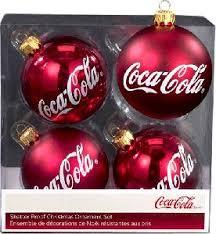 kurt adler coca cola santa glass balls pair ornaments coke cola