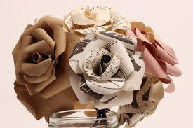vintage old book paper flower bouquet diy workshop kit